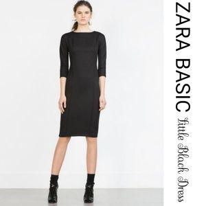 Zara Basic Elegant Little Black Dress